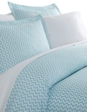 Blissful Bedding Premium Ultra Soft Three-Piece Puffed Chevron Print Duvet Cover Set