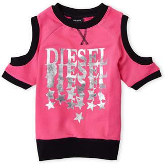 Diesel Girls 7-16) Logo Cutout Pullover