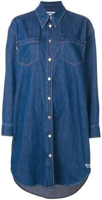 MSGM button denim dress
