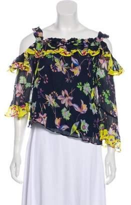 Tanya Taylor Floral Off-The-Shoulder Top