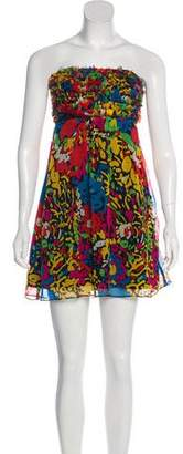 Betsey Johnson Silk Printed Mini Dress