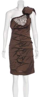 Nicole Miller One-Shoulder Mini Dress