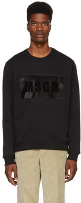 MSGM Black Panel Logo Sweatshirt