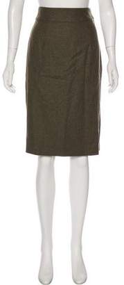 Lela Rose Knee-Length Wool Skirt