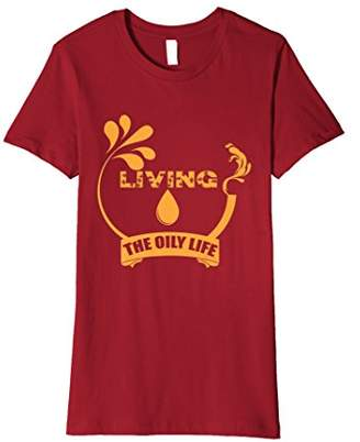 Living The Oily Life Essential Oils Funny Cute T-Shirt