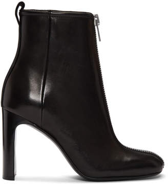 Rag & Bone Black Leather Ellis Zip Boots