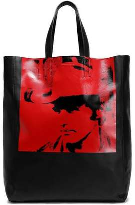 Calvin Klein Printed Leather Tote