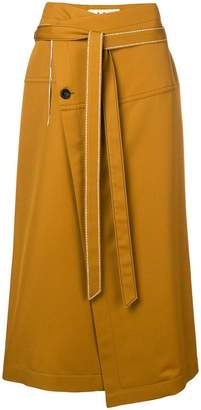 Marni asymmetric wrap-around skirt
