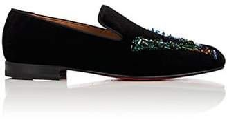 56c79da7cfa9 Christian Louboutin Black Slip Ons   Loafers For Men - ShopStyle Canada