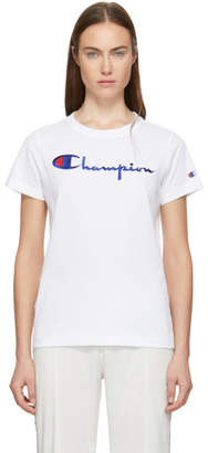 Champion Reverse Weave White Logo T-Shirt