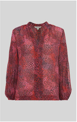 Whistles Abstract Animal Print Blouse