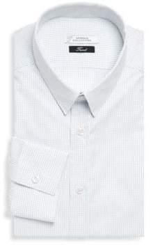 Versace Gingham Dress Shirt