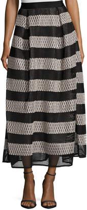 Sachin + Babi Ayako Eyelet Stripe A-Line Skirt