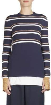 Cédric Charlier Striped Long-Sleeve Knit Top