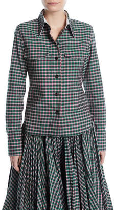 Calvin Klein Button-Front Long-Sleeve Check Shirt