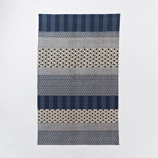 west elm Kabuki Cotton Printed Dhurrie
