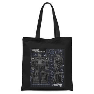 Transformers Optimus Prime Schematic Tote Bag