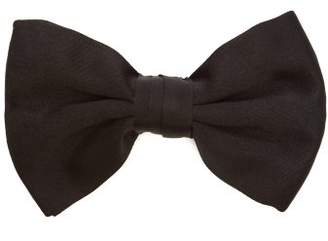 Prada Silk Satin Bow Tie - Mens - Black
