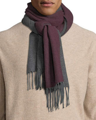 Brunello Cucinelli Men's Reversible Cashmere Scarf