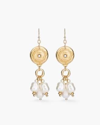 Faux-Pearl Chandelier Earrings