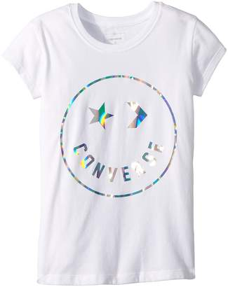 Converse Classic Smiley Face Tee Girl's T Shirt