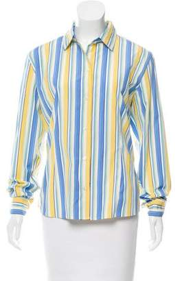 Façonnable Striped Button-Up Top w/ Tags