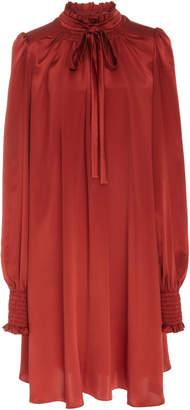 ADAM by Adam Lippes Tie-Neck Silk Scarf Dress
