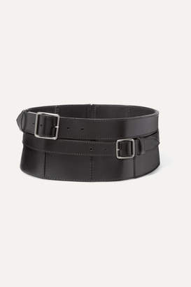 Alexander McQueen Buckle-detailed Leather Corset Belt - Black