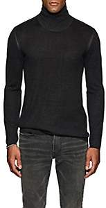 John Varvatos Men's Silk-Cashmere Turtleneck Sweater - Dark Gray