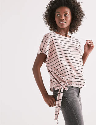 Lucky Brand STRIPE SIDE TIE TEE