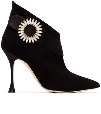 Manolo Blahnik Ankau 105 Suede Ankle Boots