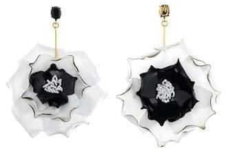 Oscar de la Renta Petunia Short Drop Earrings
