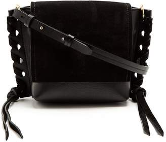 Isabel Marant Asli mini suede and leather cross-body bag