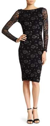 Dress the Population Emery Metallic Embroidered Dress