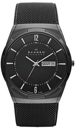 Skagen Mens Titanium and Mesh Watch