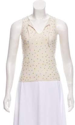 Christopher Fischer Sleeveless Cashmere Embroidered Top