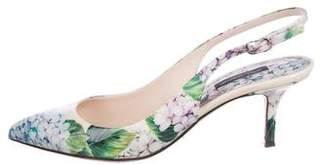 Dolce & Gabbana Floral Slingback Pumps