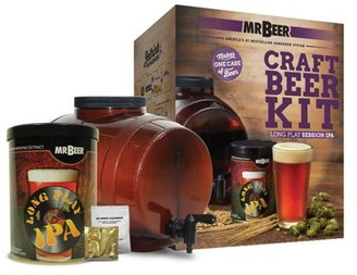 Mr. Beer Long Play IPA Beer Making Kit with Convenient 2 Gallon Fermenter Designed for Simple and Efficient Homebrewing