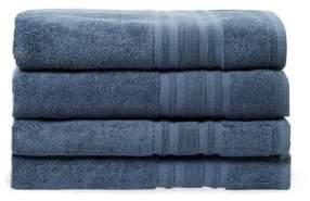 Melange Home Bordered Cotton Bath Towel- Set of 4