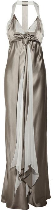 Anna Molinari Silk halterneck gown