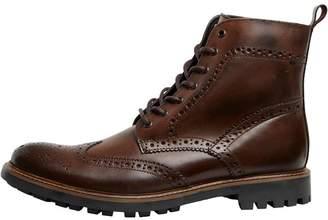 Base London Mens Lisbon Brogue Boots Waxy Brown