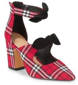 Lord & Taylor Lucie Plaid Bow Pumps