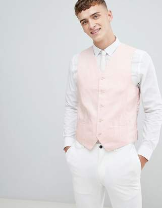 Gianni Feraud Wedding 55% Linen Slim Fit Vest