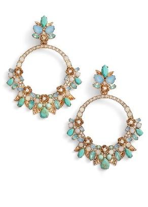 Women's Marchesa Bright Paradise Orbital Chandelier Drop Earrings $175 thestylecure.com