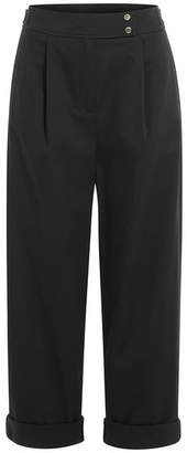 Kenzo Wide Leg Cotton Pants