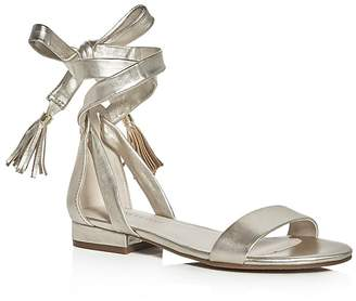 Kenneth Cole Valen Metallic Ankle Tie Sandals $110 thestylecure.com