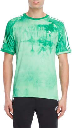 adidas Green Hu Holi Tie-Dye Tee