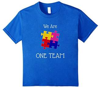 We Are One Team t Shirt with jigsaw puzzle