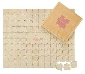 Cathy's Concepts Wedding Love Wooden Guest Book Puzzle