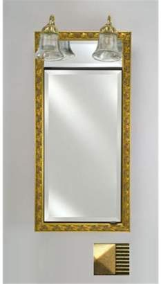 Afina Corporation SD-LT2030RMERGD 20 in.x 30 in.Recessed Single Door Cabinet with Traditional Lights - Meridian Gd-Gd